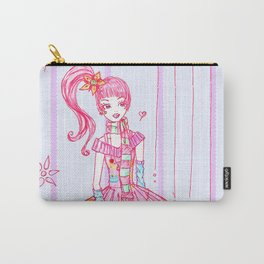 Pink Cupcake Girl Carry-All Pouch