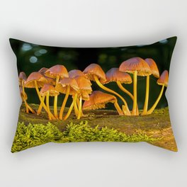Mushrooms at Sunrise Rectangular Pillow