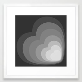 ELISE GRAYSCALE - Mid Century Modern Abstract Graphic Design Framed Art Print
