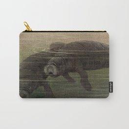Vintage Manatee Painting (1909) Carry-All Pouch