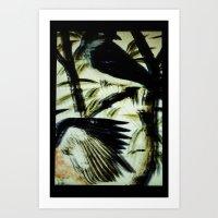 Two Blue Birds Art Print