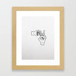 clique hand sign Framed Art Print