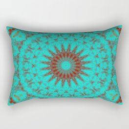 Mandala Fractal in Oxidized Copper 2 Rectangular Pillow