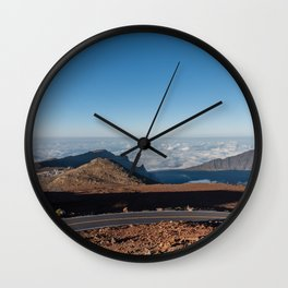 View from the top of the Haleakala volcano crater on Maui Wall Clock
