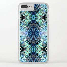 Paua Shell  Inspired Pattern Clear iPhone Case