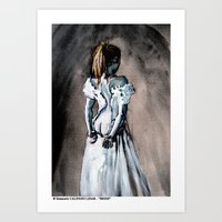 bride Art Prints featuring BRIDE by Emanuele Califano Lidak