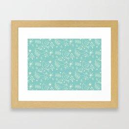 Christmas Dove Blue Framed Art Print