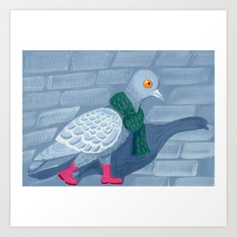 Pigeon in the city Art Print
