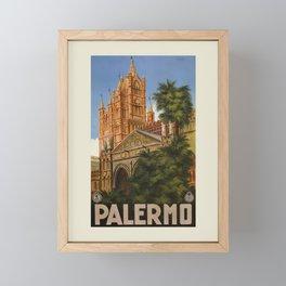 vintage Palermo Sicily Italian travel ad Framed Mini Art Print