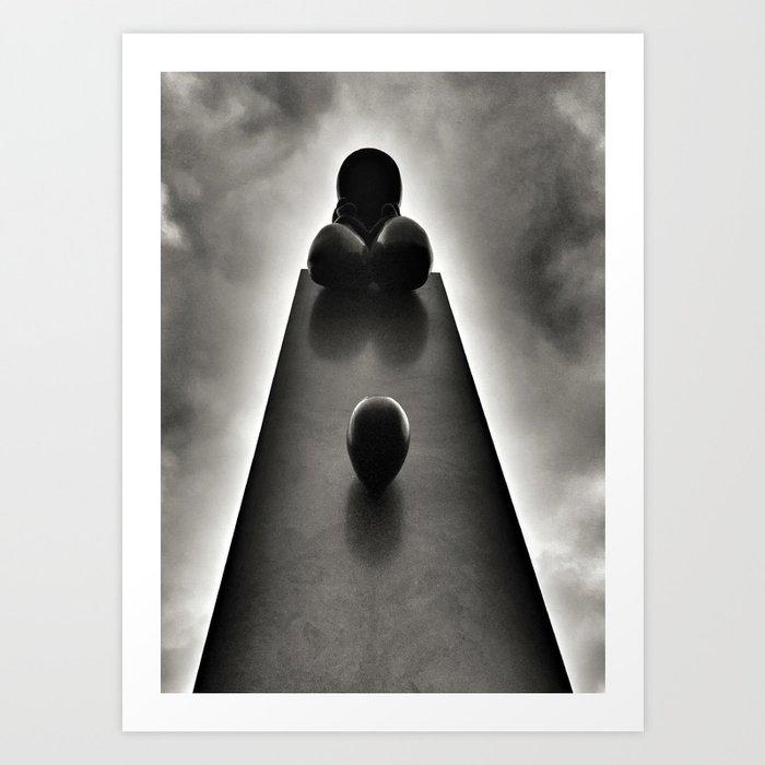 Dyslexia Obelisk Art Print