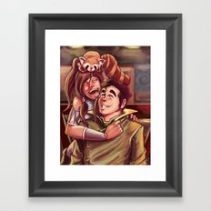 A Night In Republic City Framed Art Print