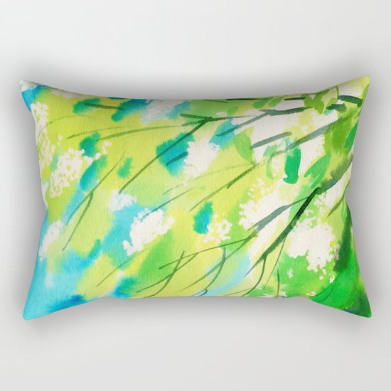 Tree in bloom ❤ Rectangular Pillow