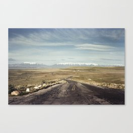 Road from Antelope Island Canvas Print