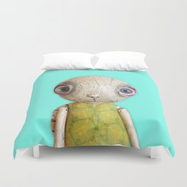 Sheldon The Turtle - Teal Blue Duvet Cover