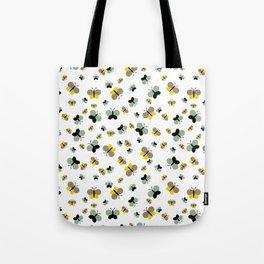 Crisscross Butterflies V.03 - Porcelain White Color Tote Bag