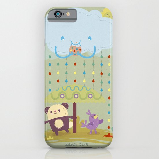 color raindrops keep falling on my head iPhone & iPod Case