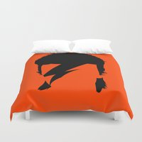 bowie Duvet Covers featuring BOWIE by eve orea