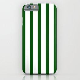 Dark Green Vertical Stripes Design iPhone Case