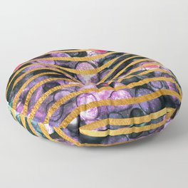 Gold Waves and Ink #society6 Floor Pillow