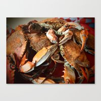 maryland Canvas Prints featuring Maryland Crabs by Tracy Wedan Jacquez