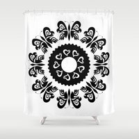 butterflies Shower Curtains featuring Butterflies by BWartwork