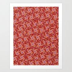 Red Orange Eyes Art Print