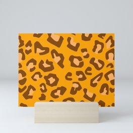 Animal Art Leopard Print Pattern In Gold Simple Decor Mini Art Print