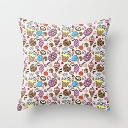 Desserts and Sweets Throw Pillow