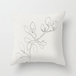 Floral Study No. 3 Throw Pillow