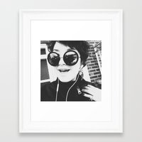 glasses Framed Art Prints featuring Glasses by Anna Ilina