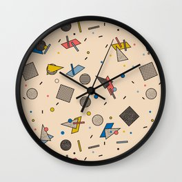 Memphis Inspired Pattern 9 Wall Clock