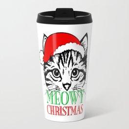 Meowy Christmas Merry Cat Kitten Travel Mug
