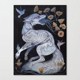 Fox & Poppies Canvas Print
