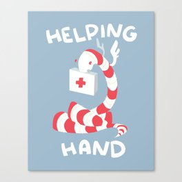 Helping Hand Canvas Print
