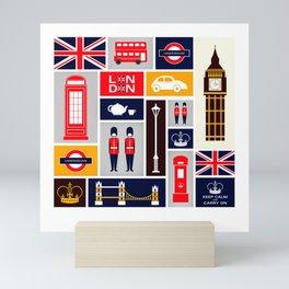 London Keep Calm And Carry On Mini Art Print