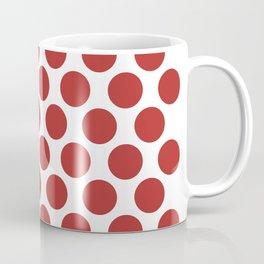 CVPA20032 Large Polka Dots Firebrick Red White Coffee Mug