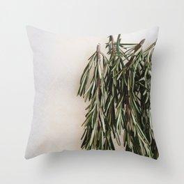 Fresh Rosemary (2) Throw Pillow