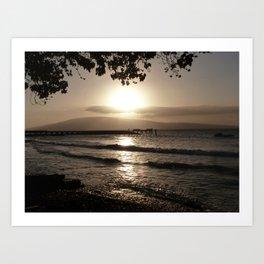 Ocean Sunset Tranquility Art Print