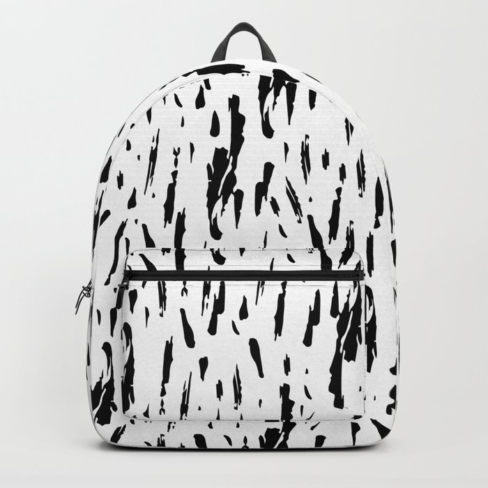 Seattle Rain Black Ink on White Backpack