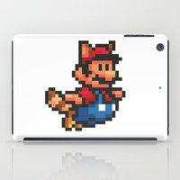mario bros iPad Cases featuring Pixelated Super Mario Bros - Mario by Katadd