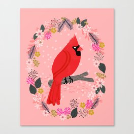 Northern Cardinal by Andrea Lauren  Canvas Print