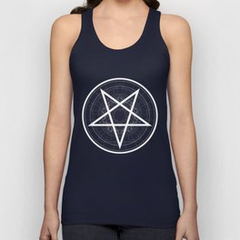 Baphomet Pentagram Star - Satanic sign Unisex Tank Top