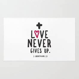 Love Never Gives Up Rug