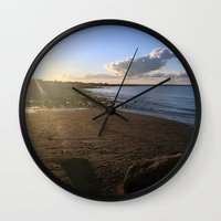 cape cod Wall Clocks featuring Cape Cod  by Plush Deesigns