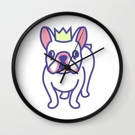 King Louie the Frenchie Cartoon Wall Clock