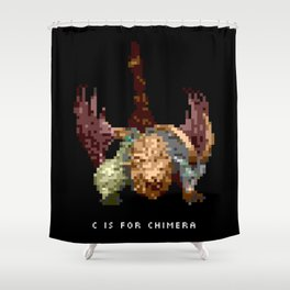 C is for Chimera Shower Curtain