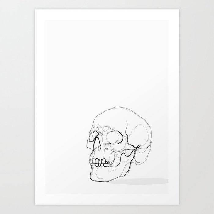 Skull Line Drawing Kunstdrucke