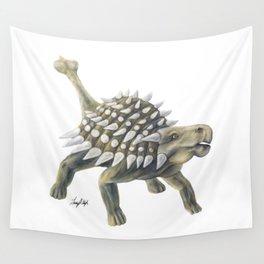 Green Ankylosaurus Wall Tapestry