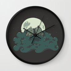 Moonlight Kiss Wall Clock