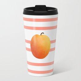 Ruston Peach Rugby Stripe Travel Mug